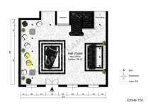 Plan Hall de l'hôtel