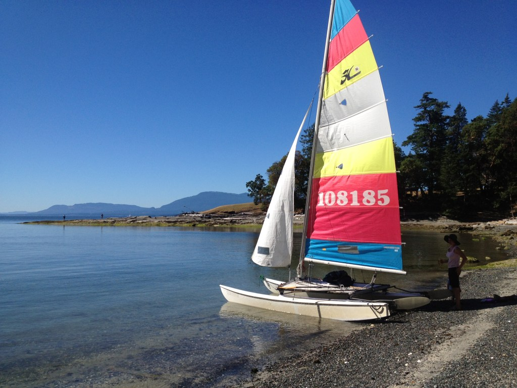 Nothing like sailing a Hobie…when there is wind