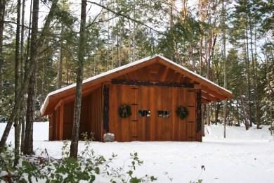 Snow on DeCourcy Island