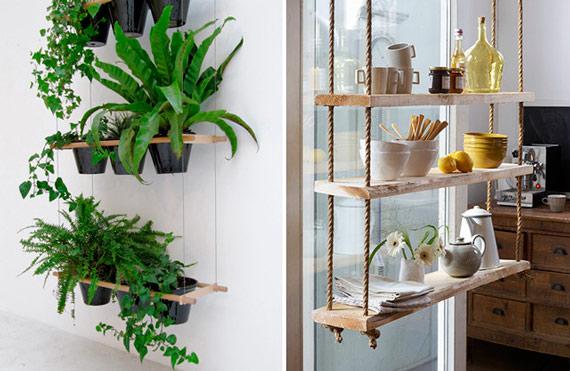 Green decor: Hanging houseplants