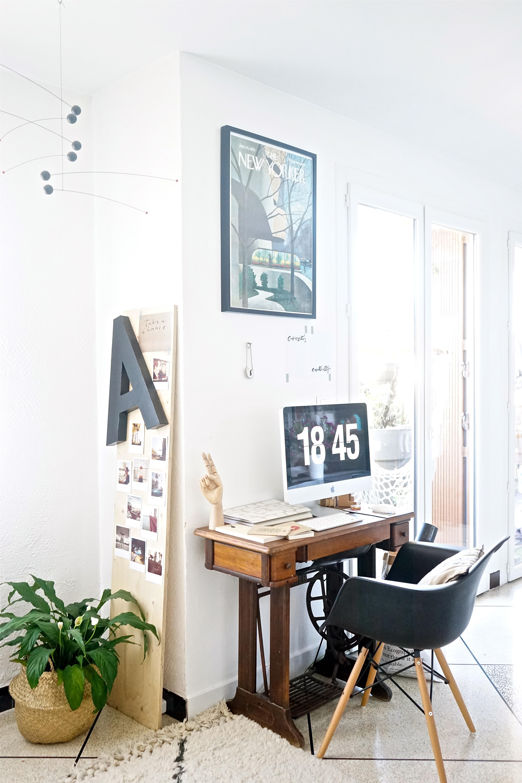 chez moi mon coin bureau et des idees pour integrer un espace de travail dans le sejour
