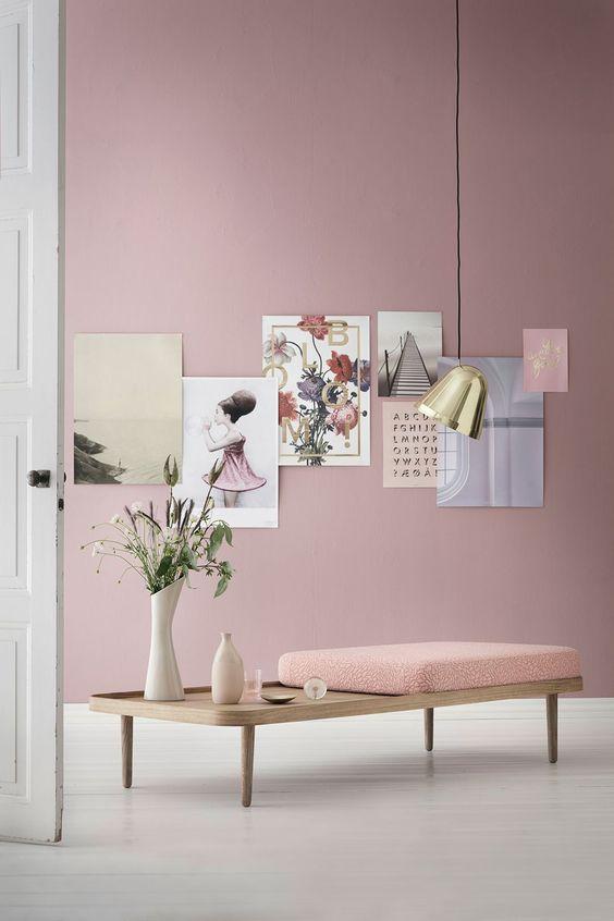 Inspiration Rose Poudré : Mur En Couleurs Tendance Déco_