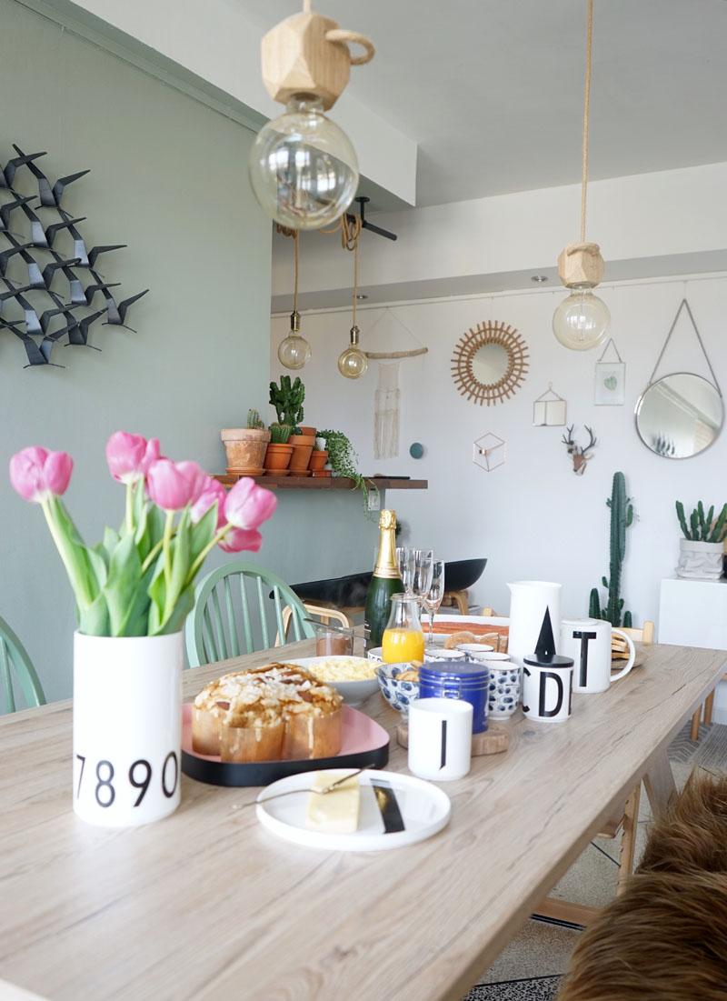 décoration table avec design letters