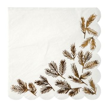 16-serviettes-aiguilles-de-sapin-dorees
