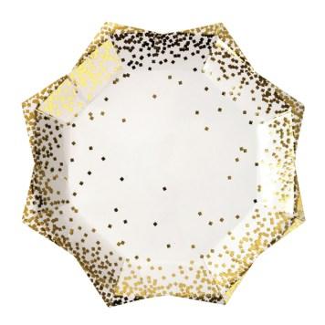 8-assiettes-confettis-dores