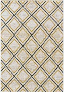 tapis d exterieur ou de salon motifs losanges jaune et noir