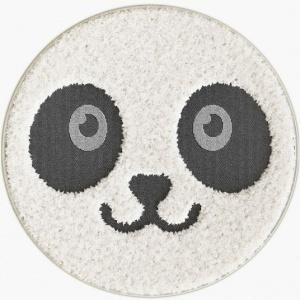 destockage tapis rond chambre d enfants bebe panda facile d entretien