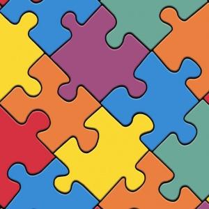 sol vinyle style motif puzzle