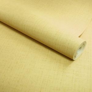 papier peint vinyle sur intisse retro uni jaune vintage