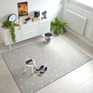 tapis chambre d enfant etoiles gris