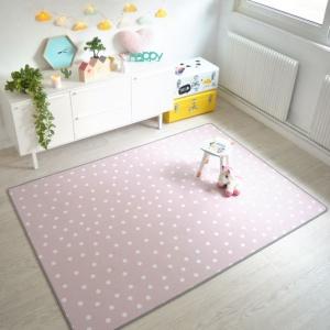 tapis chambre d enfant pois rose