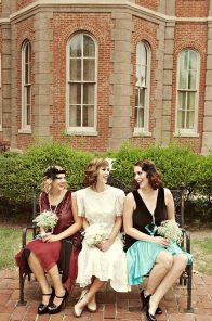 1920s Style Bridesmaids