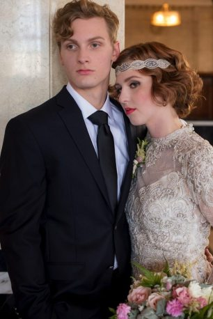 1920s Styled Bride and Groom