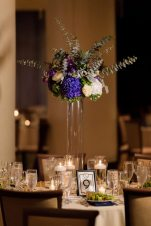 1920s Wedding Centerpieces in Purple and White