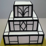 3-Tier Art Deco Wedding Cake