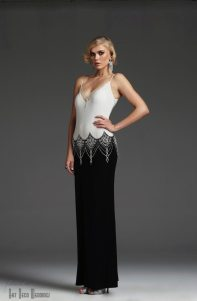 Art Deco Black + White Gown || VM1007