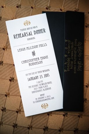 Art Deco Reherarsal Dinner Invite