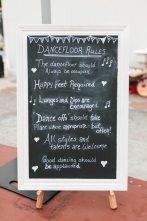 DIY Vintage Wedding Dance floor Rules