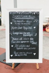 DIY Vintage Wedding Dance floor Rules