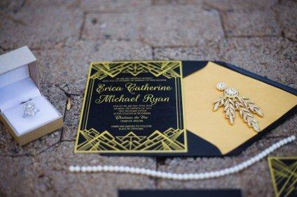 Gatsby Inspired Wedding Invitation