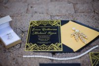 Gatsby Inspired Wedding Invitation