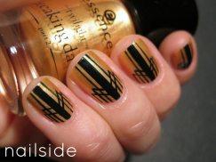 Gold Art Deco Manicure