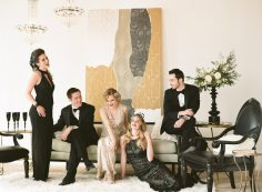 Gold and Black Art Deco Bridal Party