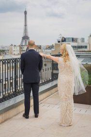 Parisian First Look Bride + Groom