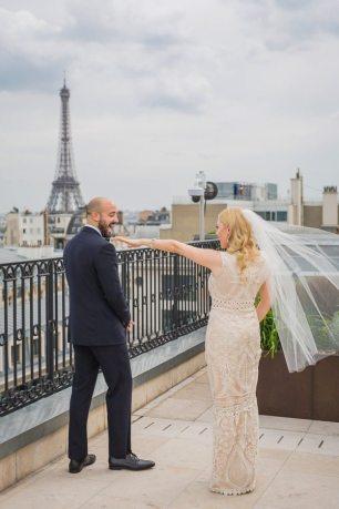 Wedding First Look Eiffel Tower