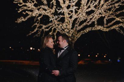 Winter Wedding Groom + Bride