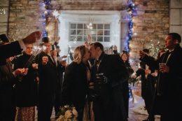 Winter Wedding Reception Sendoff