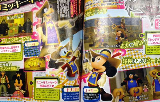 scan Kingdom Hearts 3D Dream Drop Distance los tres mosqueteros