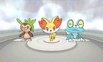 pokemon x y starters imagen