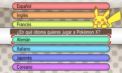 pokemon x y idioma