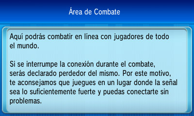 area de combate pokemon x y