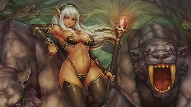 Dragon's Crown elfa oscura