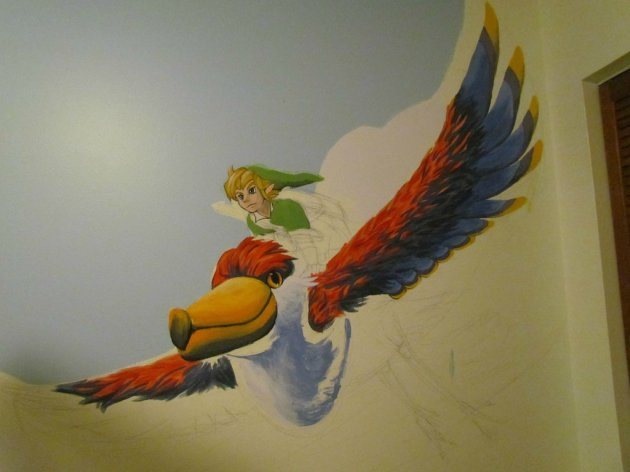 Zelda Skyward Sword pintura 09