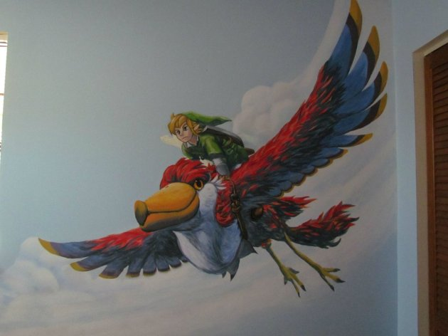 Zelda Skyward Sword pintura 17