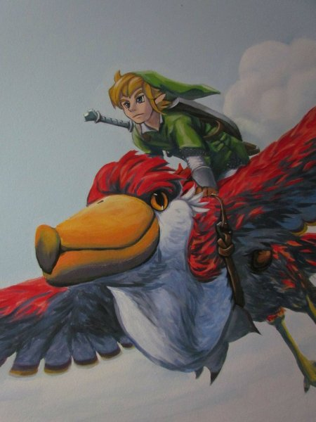 Zelda Skyward Sword pintura 21