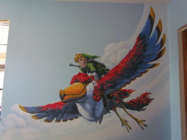 Zelda Skyward Sword pintura 23