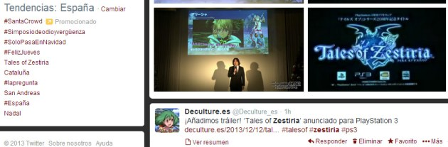 Tales of Zestiria Trending Topic