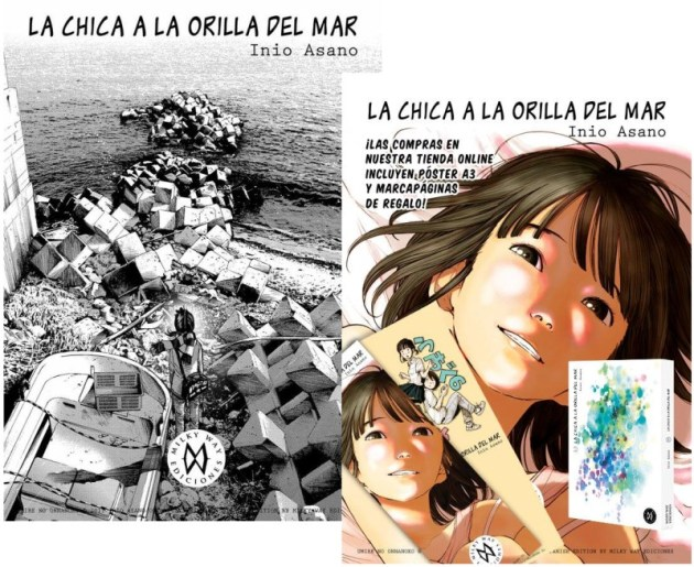 A la izquierda, el póster adicional, a la derecha, el primer póster y marcapáginas también incluidos