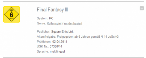 Final Fantasy III PC