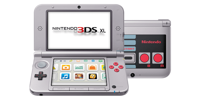 Nintendo 3DS XL NES open