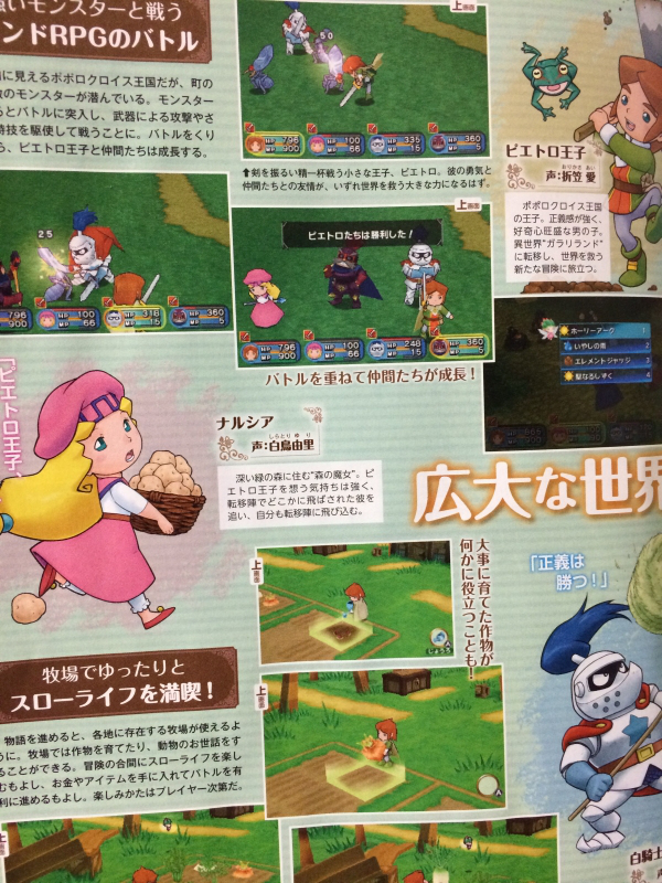 PoPoLoCrois Harvest Moon scan