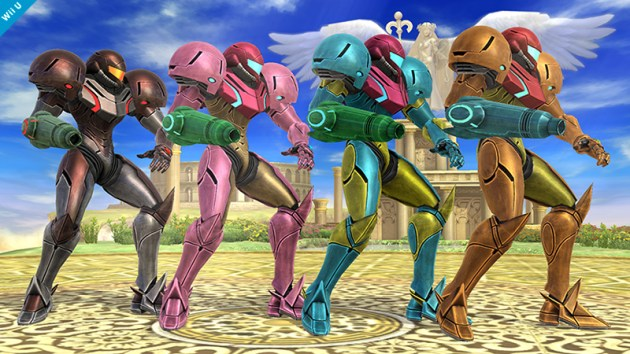Samus Smash Bros 3DS WIi U colours 01