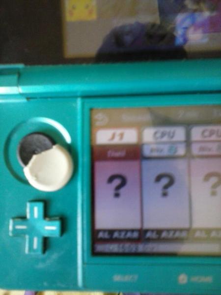 Smash Bros 3DS boton deslizante roto 16