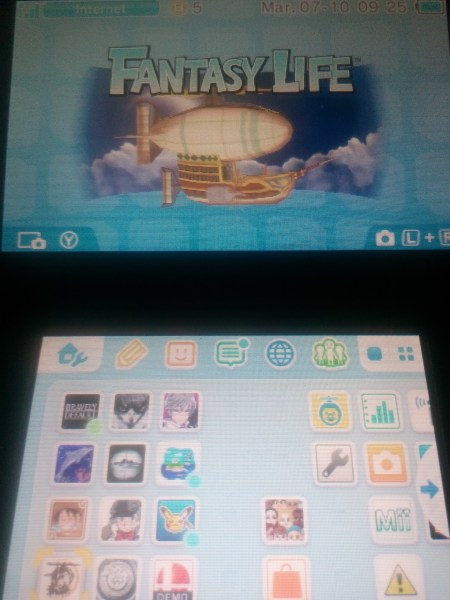 3DS tema azul menu home
