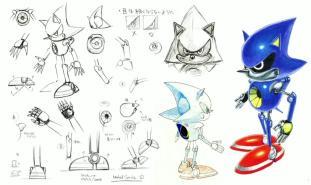 Arte Conceptual Metal Sonic