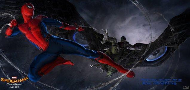 Spiderman Homecoming Buitre batalla